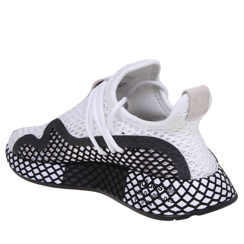 Sneakers Adidas Originals in mesh stretch effetto rete bianco 4