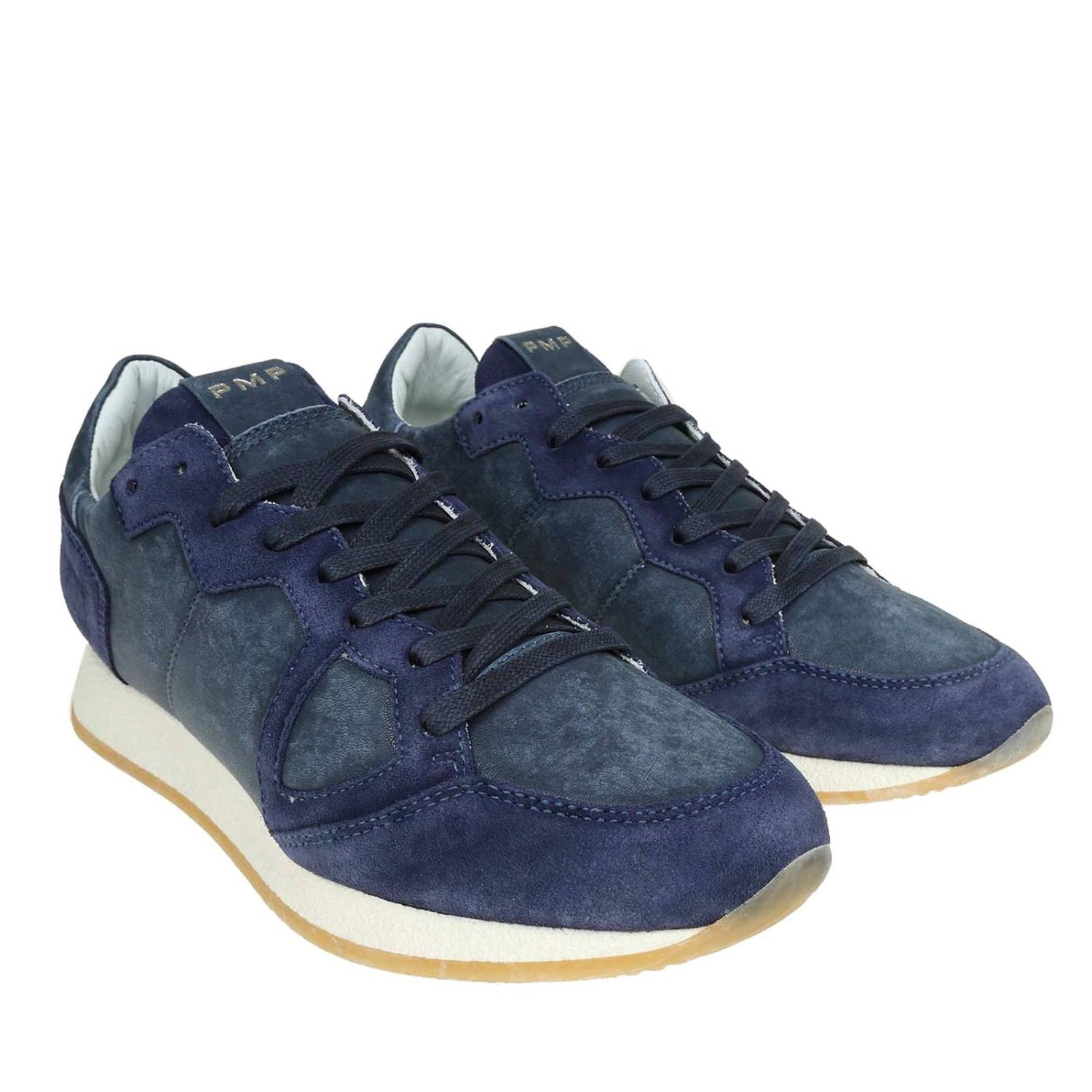 Trainers men Philippe Model blue 2