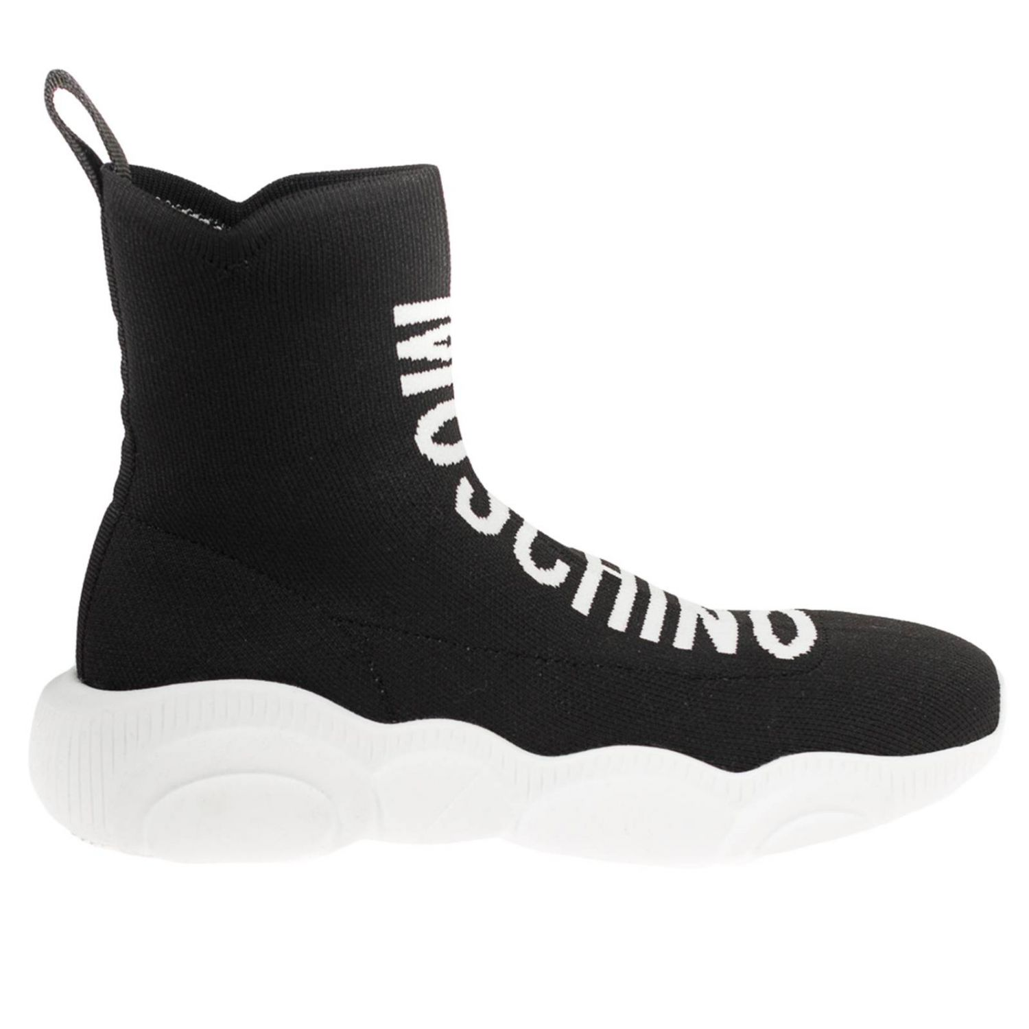 Sneakers Moschino Couture slip on a calza nero 1
