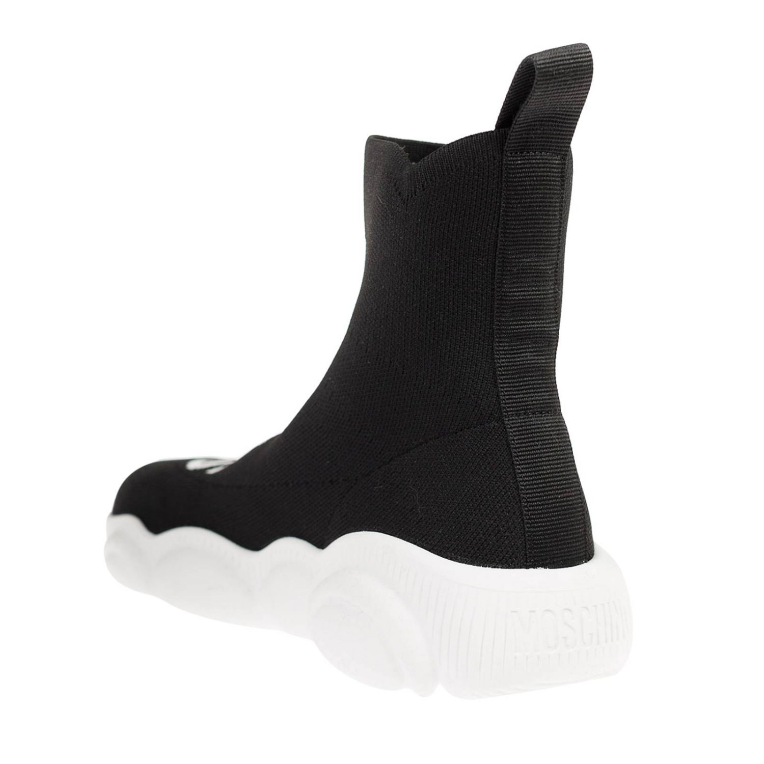 Sneakers Moschino Couture slip on a calza nero 3