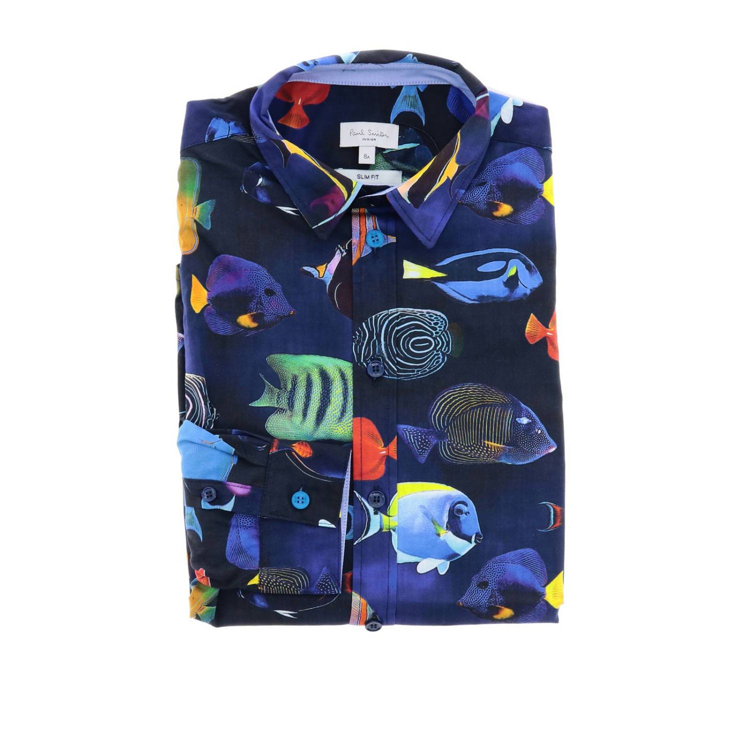 Chemise enfant Paul Smith Junior bleu 1