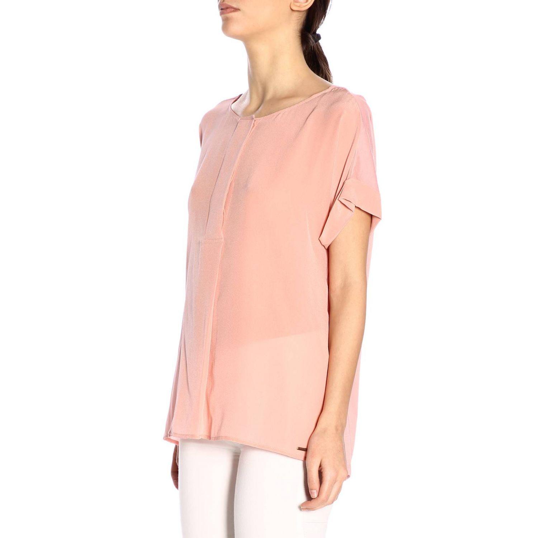 T-shirt women Woolrich pink 2