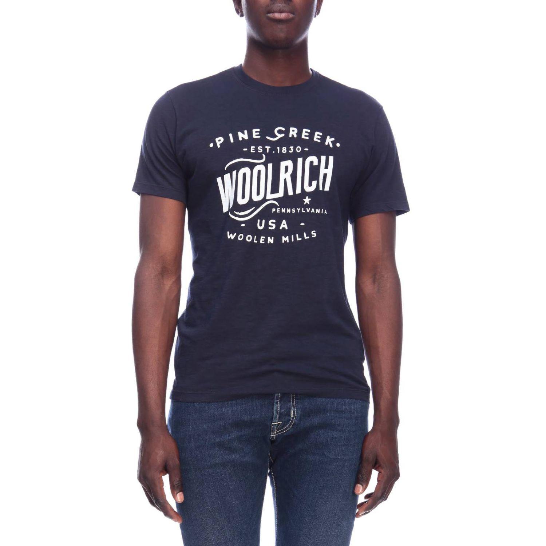T-shirt men Woolrich blue 1