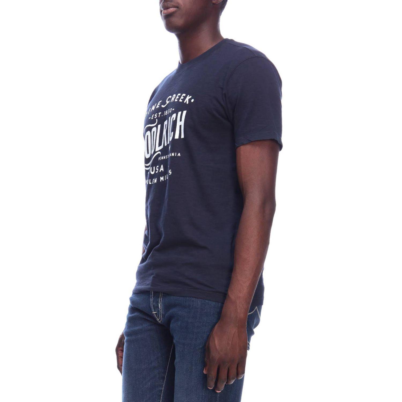 T-shirt men Woolrich blue 2