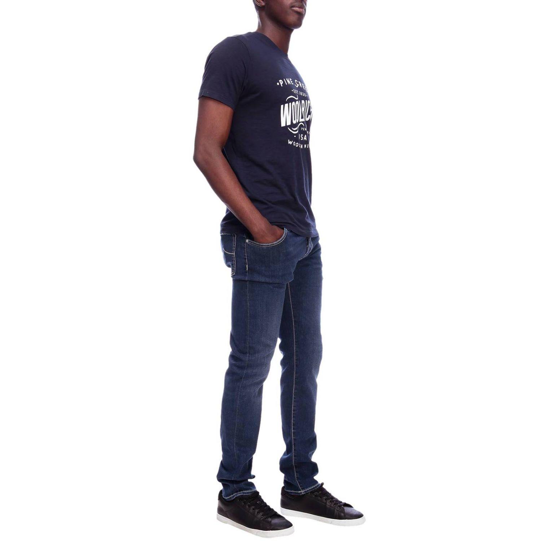 T-shirt men Woolrich blue 4