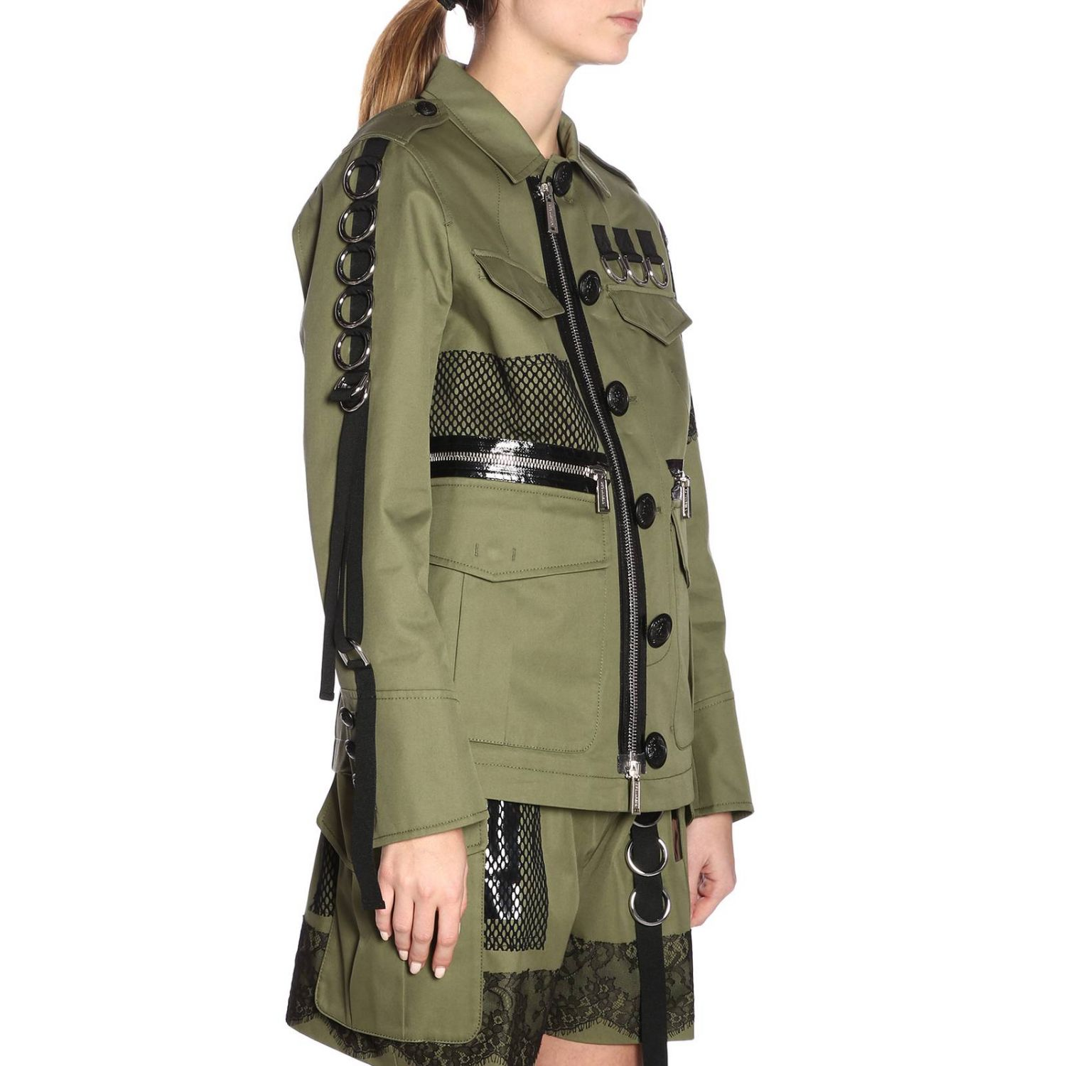 Giacca donna Dsquared2 verde 4