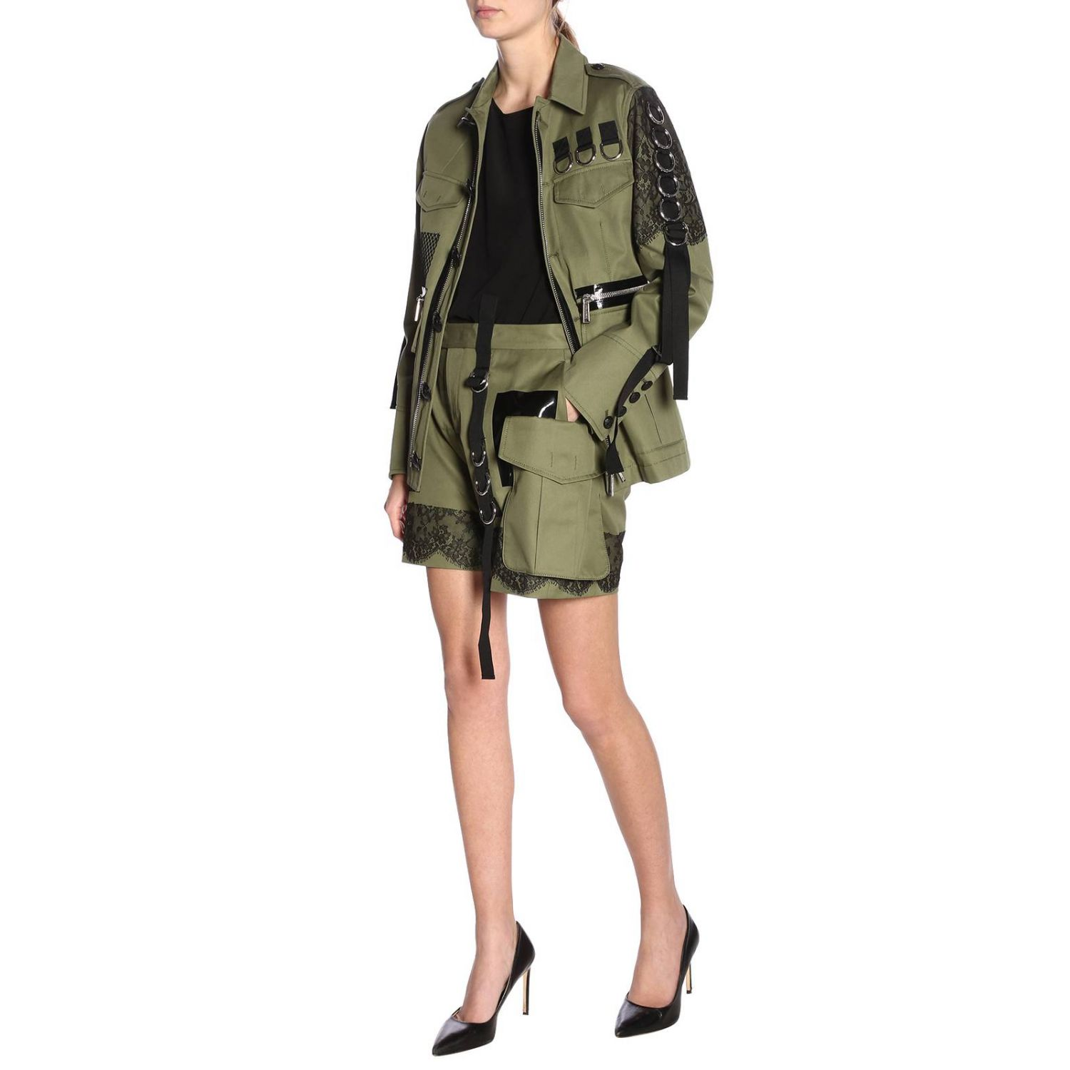 Giacca donna Dsquared2 verde 6