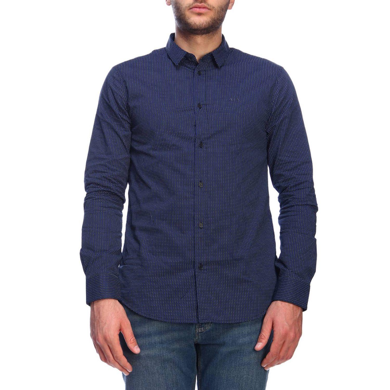 Camisa hombre Armani Exchange azul marino 1