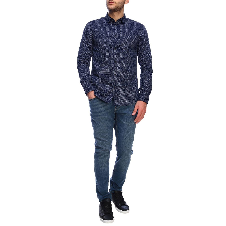 Camisa hombre Armani Exchange azul marino 4