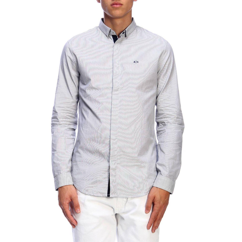 衬衫 Armani Exchange: 衬衫 男士 Armani Exchange 海军蓝 1