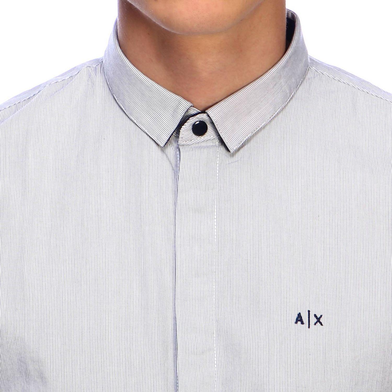 衬衫 Armani Exchange: 衬衫 男士 Armani Exchange 海军蓝 4