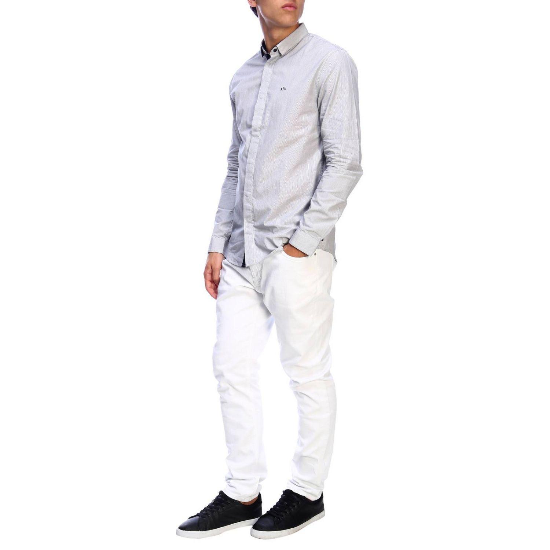 衬衫 Armani Exchange: 衬衫 男士 Armani Exchange 海军蓝 5