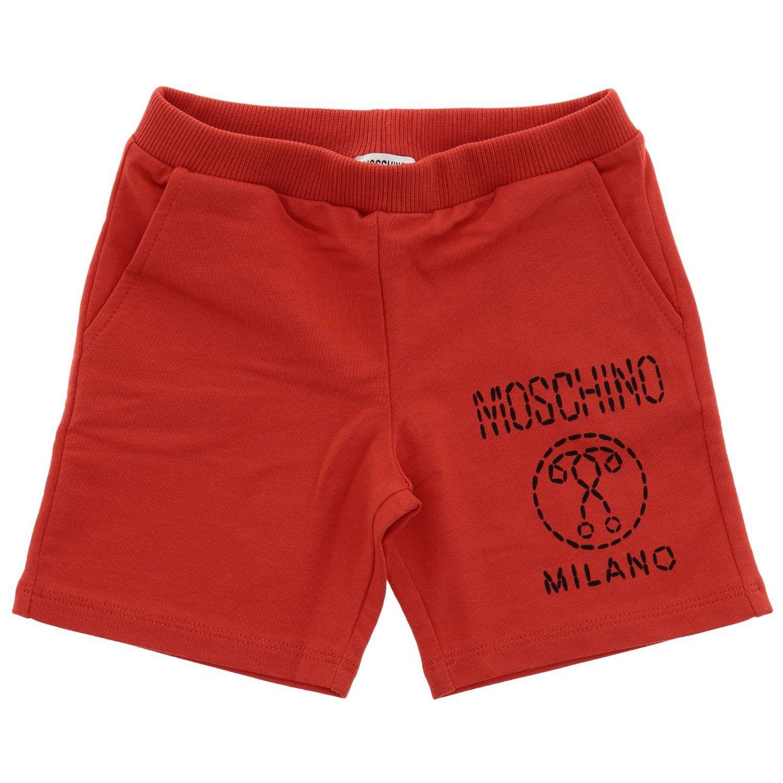 Short kids Moschino Baby red 1