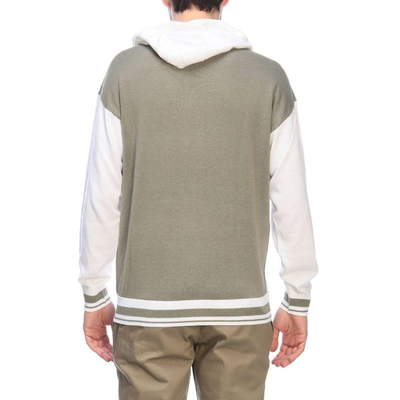 Felpa Armani Exchange con cappuccio e logo bianco 3