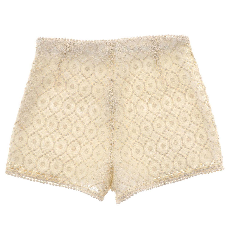 Pantalons courts enfant Philosophy Di Lorenzo Serafini jaune crème 1