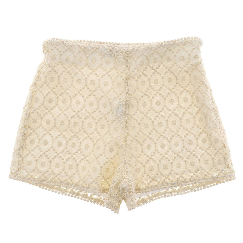 Pantalons courts enfant Philosophy Di Lorenzo Serafini jaune crème 2