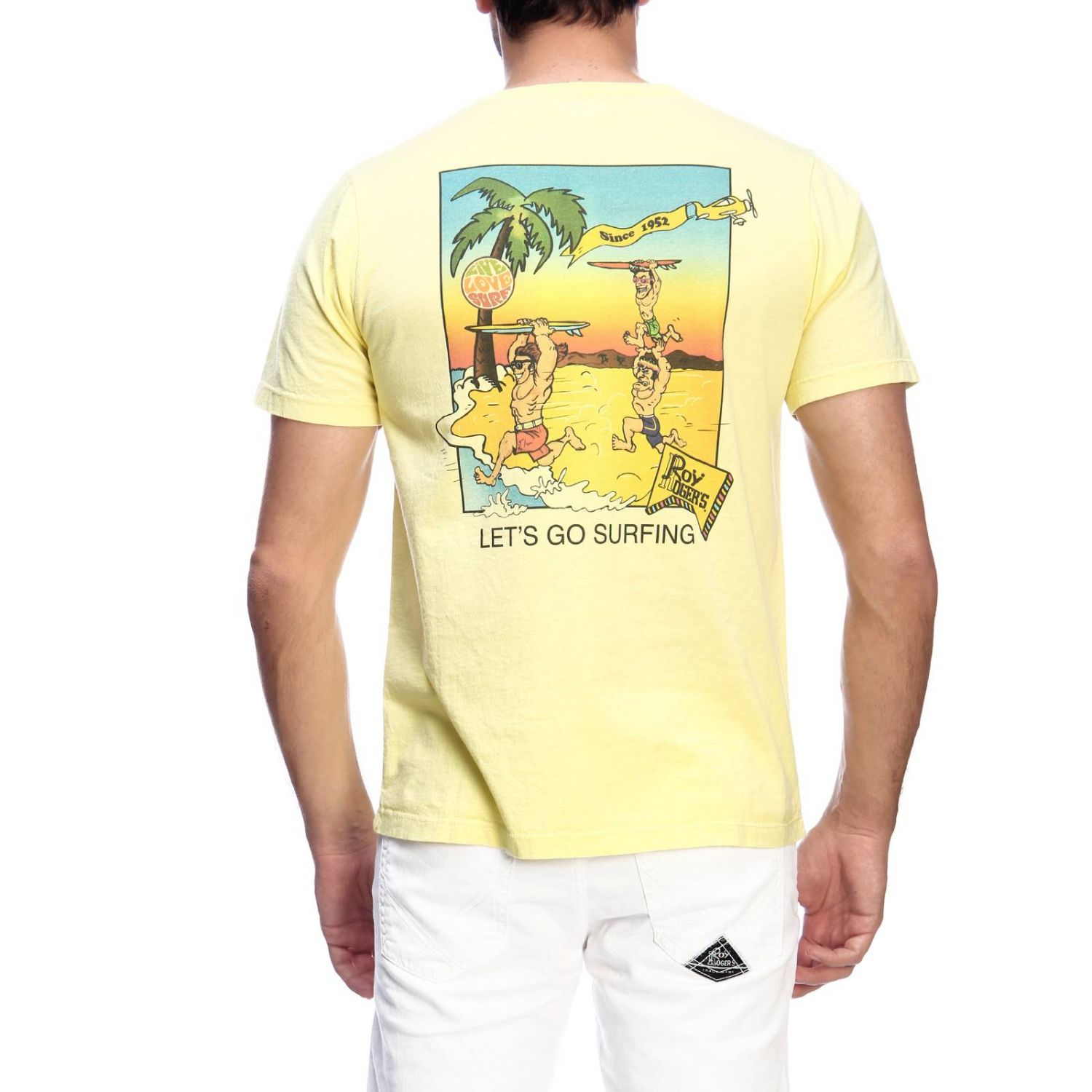 T-shirt men Roy Rogers yellow 3