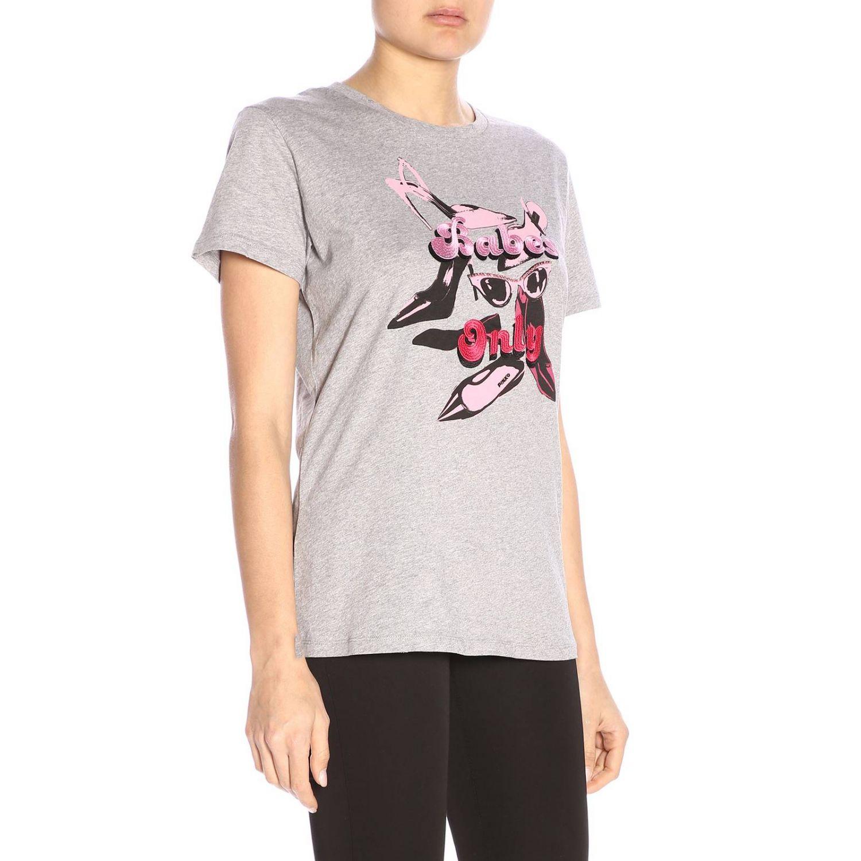 T-shirt Pinko Uniqueness a girocollo con stampa grigio 2