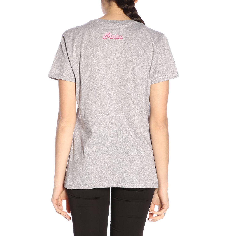 T-shirt Pinko Uniqueness a girocollo con stampa grigio 3
