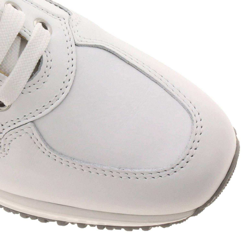 Sneakers Interactive Classic in pelle con H di strass bianco 3