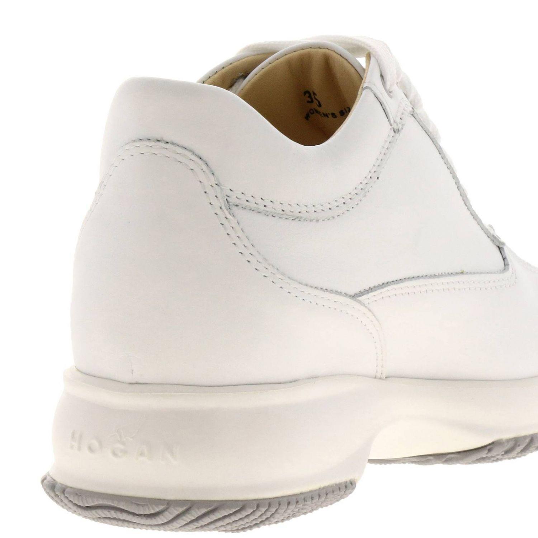 Sneakers Interactive Classic in pelle con H di strass bianco 4