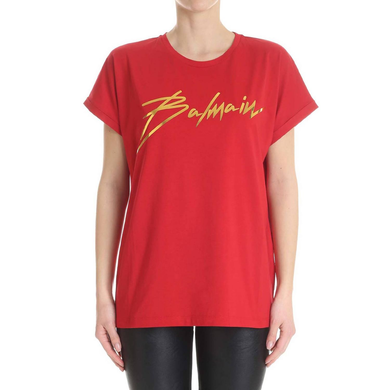 T-Shirt Balmain: T-shirt women Balmain red 1