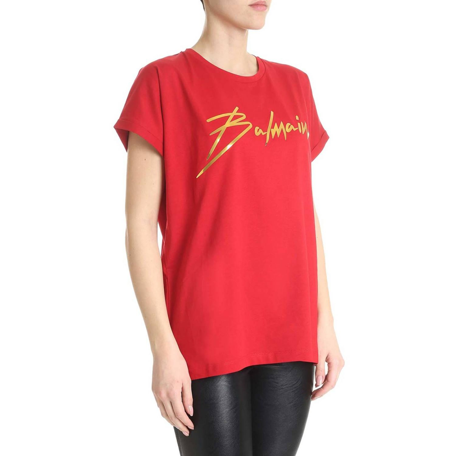 T-Shirt Balmain: T-shirt women Balmain red 2