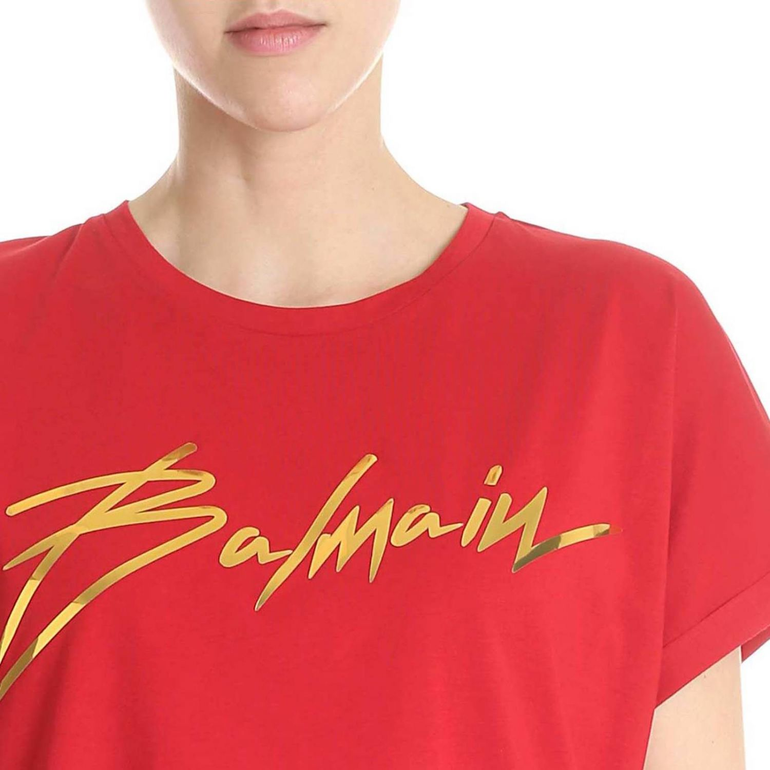 T-Shirt Balmain: T-shirt women Balmain red 4