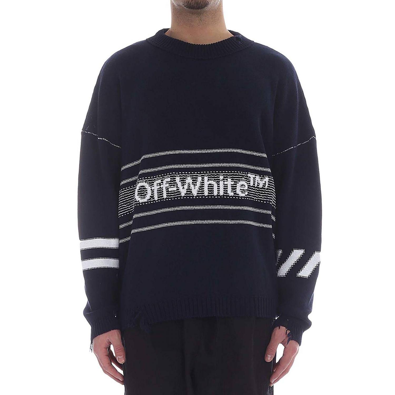 Pullover herren Off White blau 1