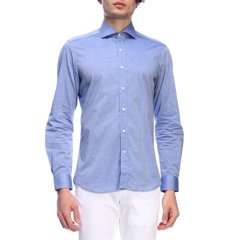 Shirt men Fay indigo 1
