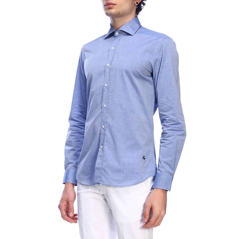 Shirt men Fay indigo 2