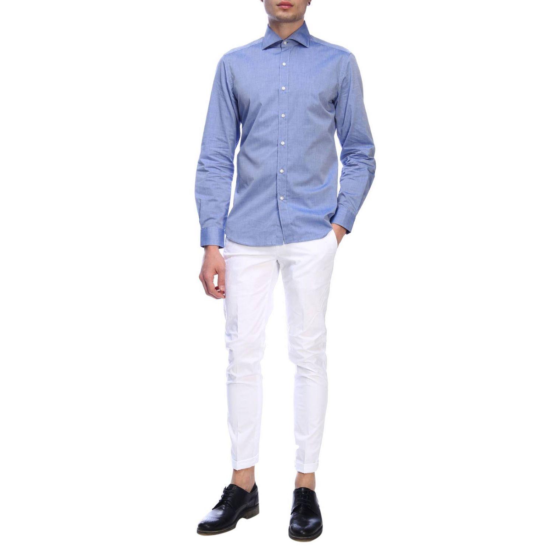 Shirt men Fay indigo 5
