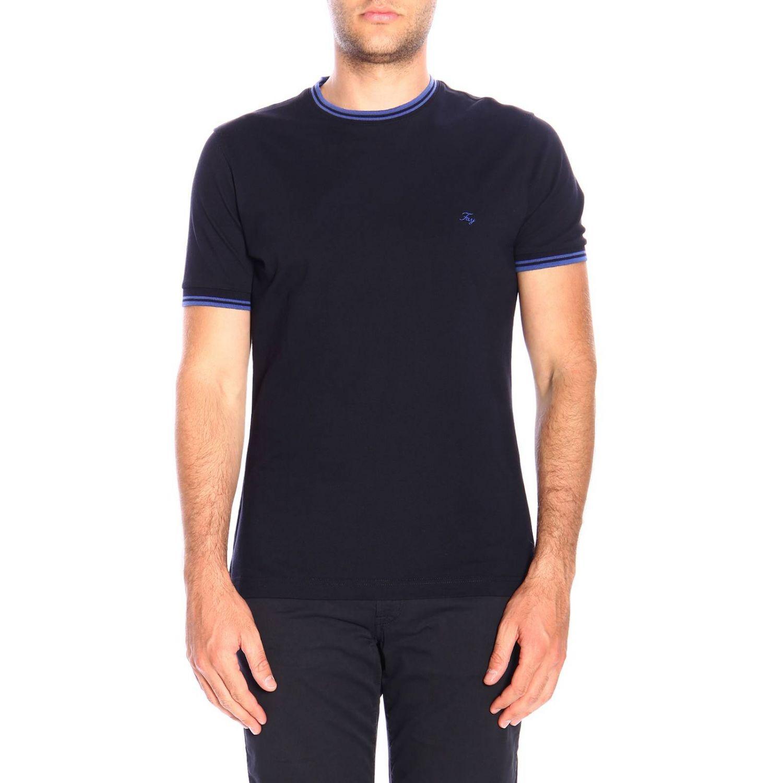 T-shirt men Fay petroleum blue 1