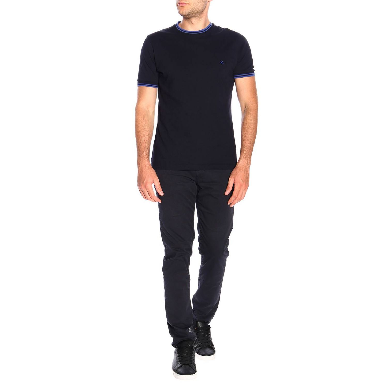 T-shirt men Fay petroleum blue 2