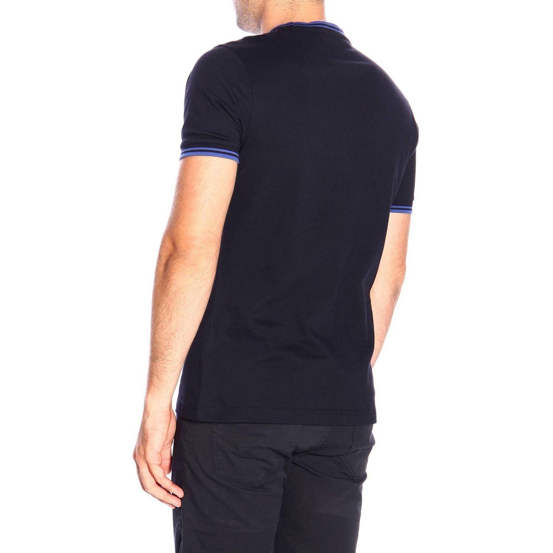 T-shirt men Fay petroleum blue 3
