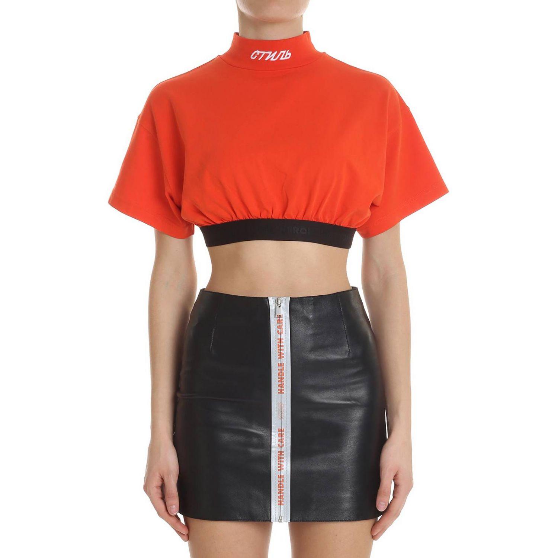 T-shirt donna Heron Preston rosso 1