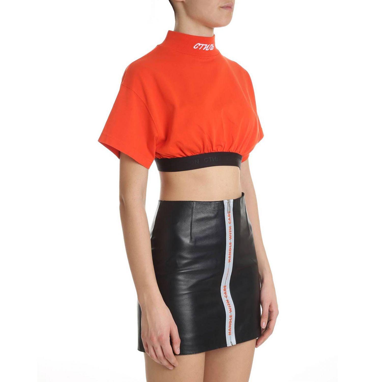 T-shirt donna Heron Preston rosso 2