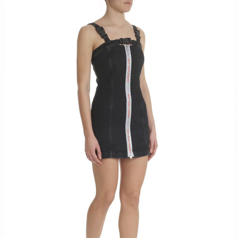 Kleid damen Heron Preston schwarz 2