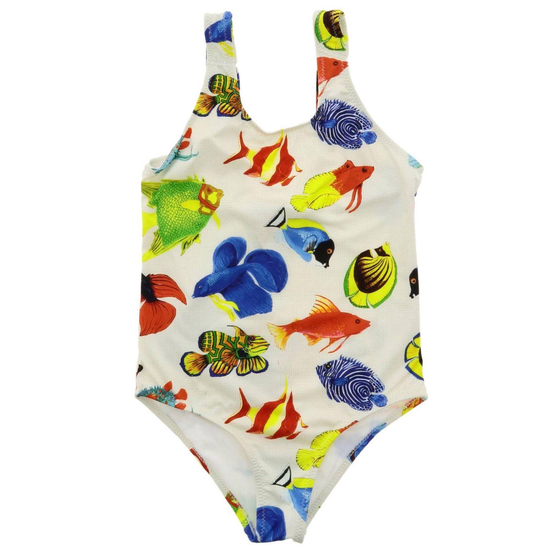 Swimsuit kids Stella Jean white 1