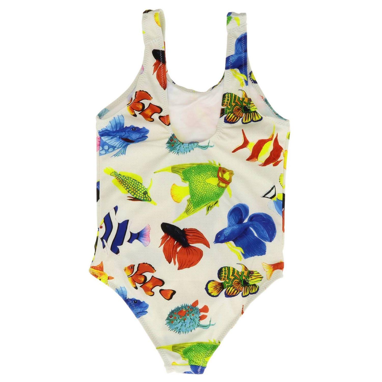 Swimsuit kids Stella Jean white 2