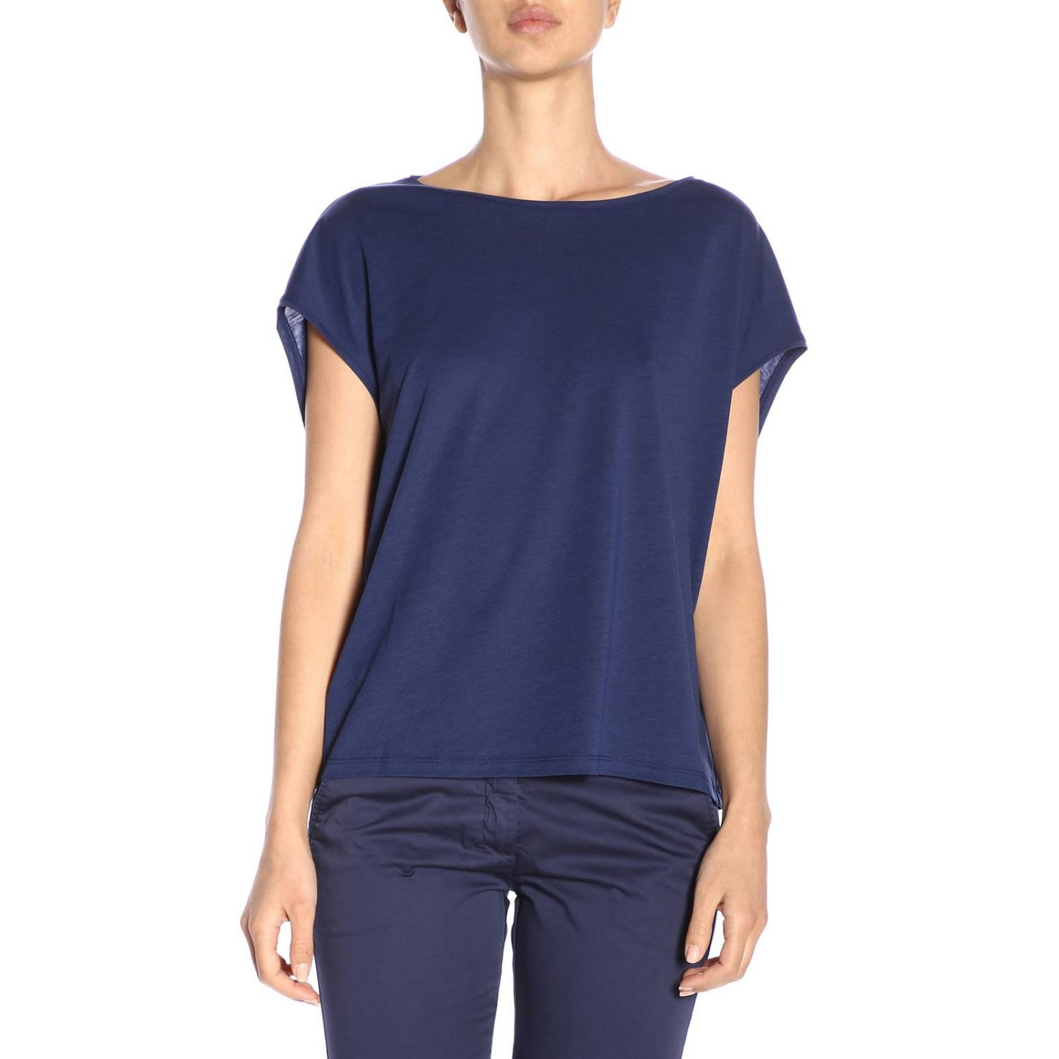 Camiseta mujer Woolrich azul oscuro 1