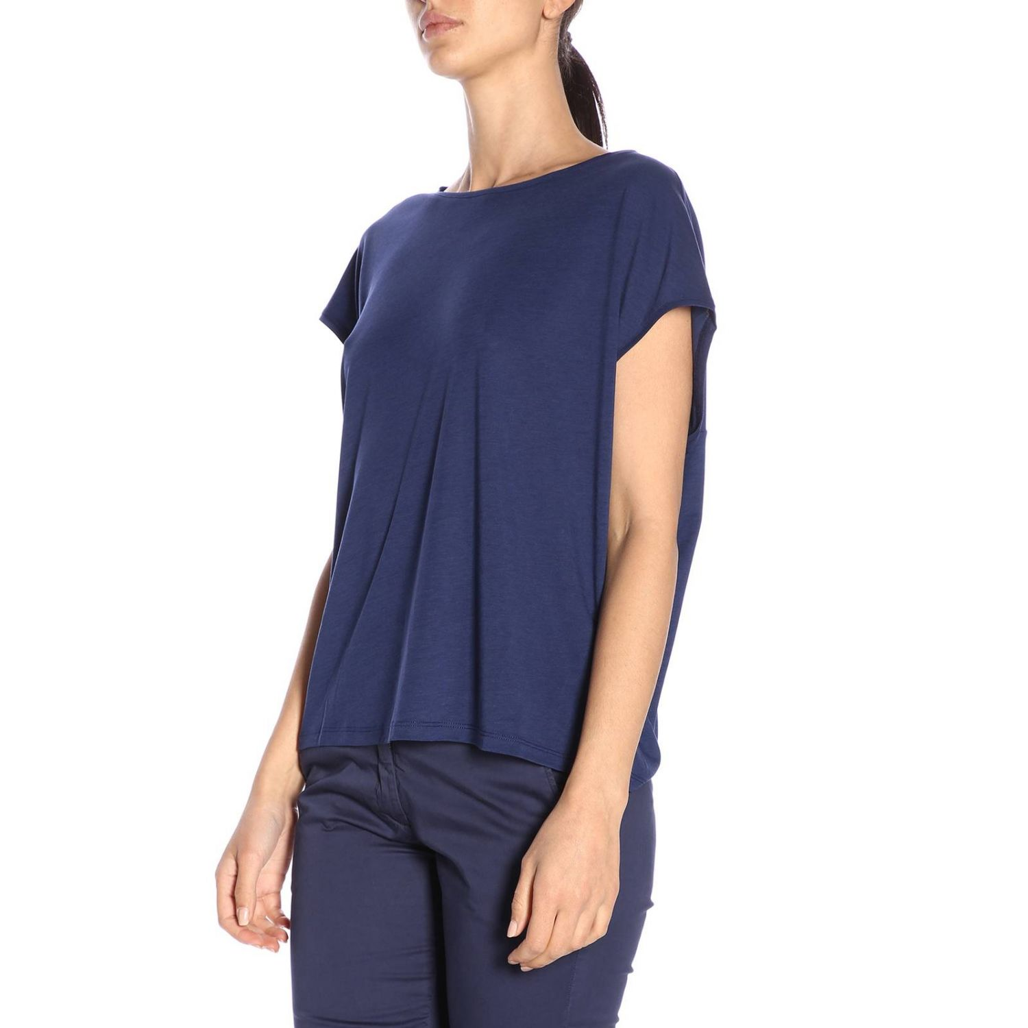 Camiseta mujer Woolrich azul oscuro 2