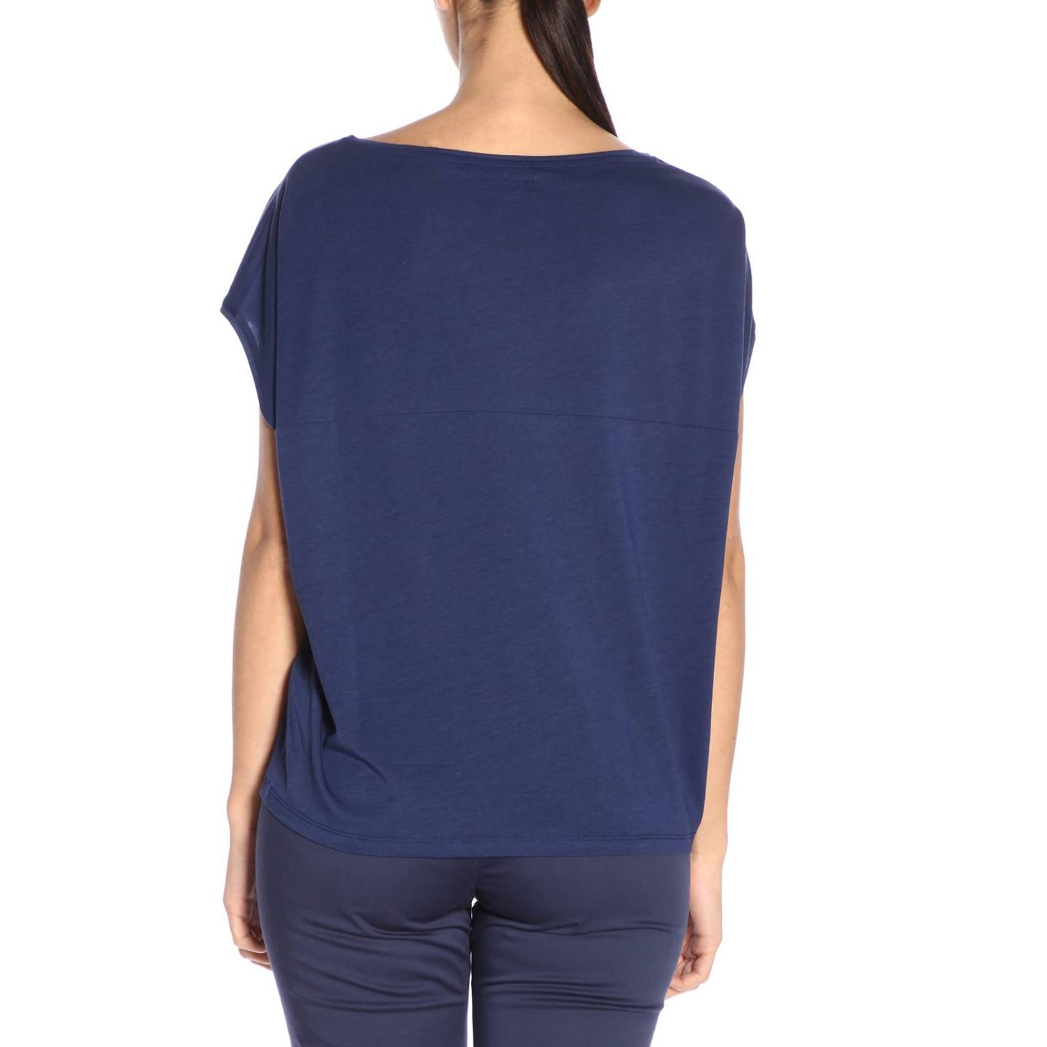 Camiseta mujer Woolrich azul oscuro 3