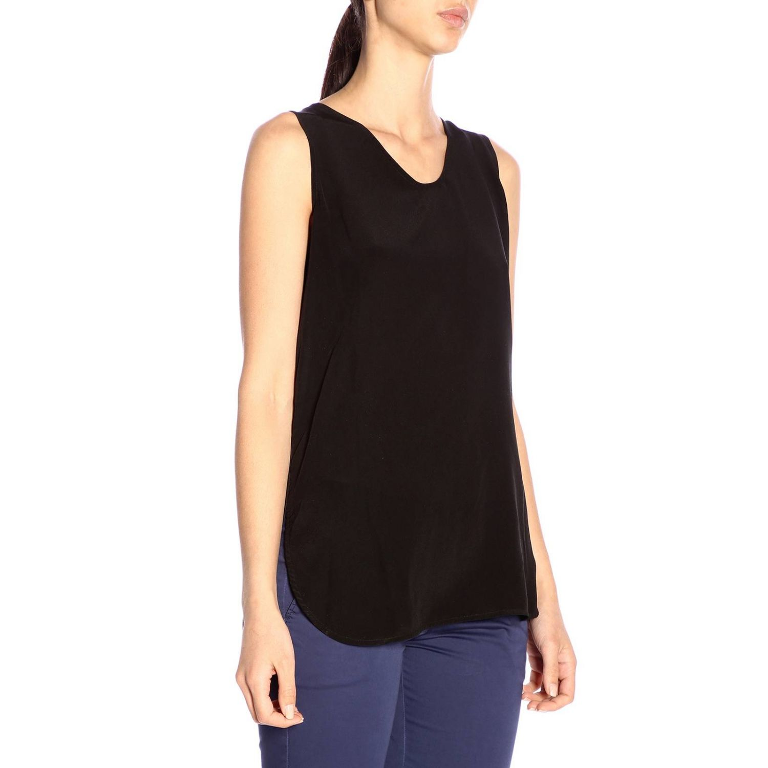 T-shirt women Woolrich black 2