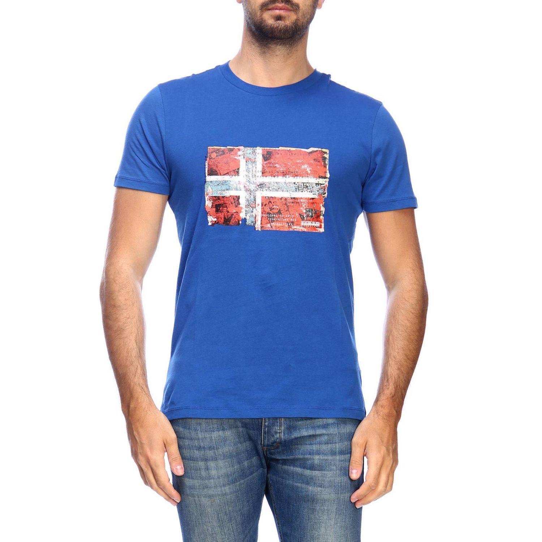T-shirt men Napapijri gnawed blue 1