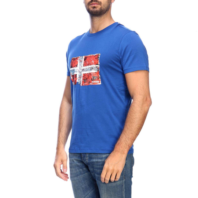 T-shirt men Napapijri gnawed blue 2