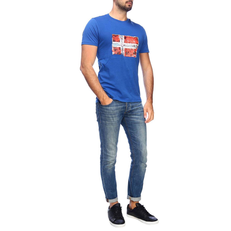 T-shirt men Napapijri gnawed blue 4