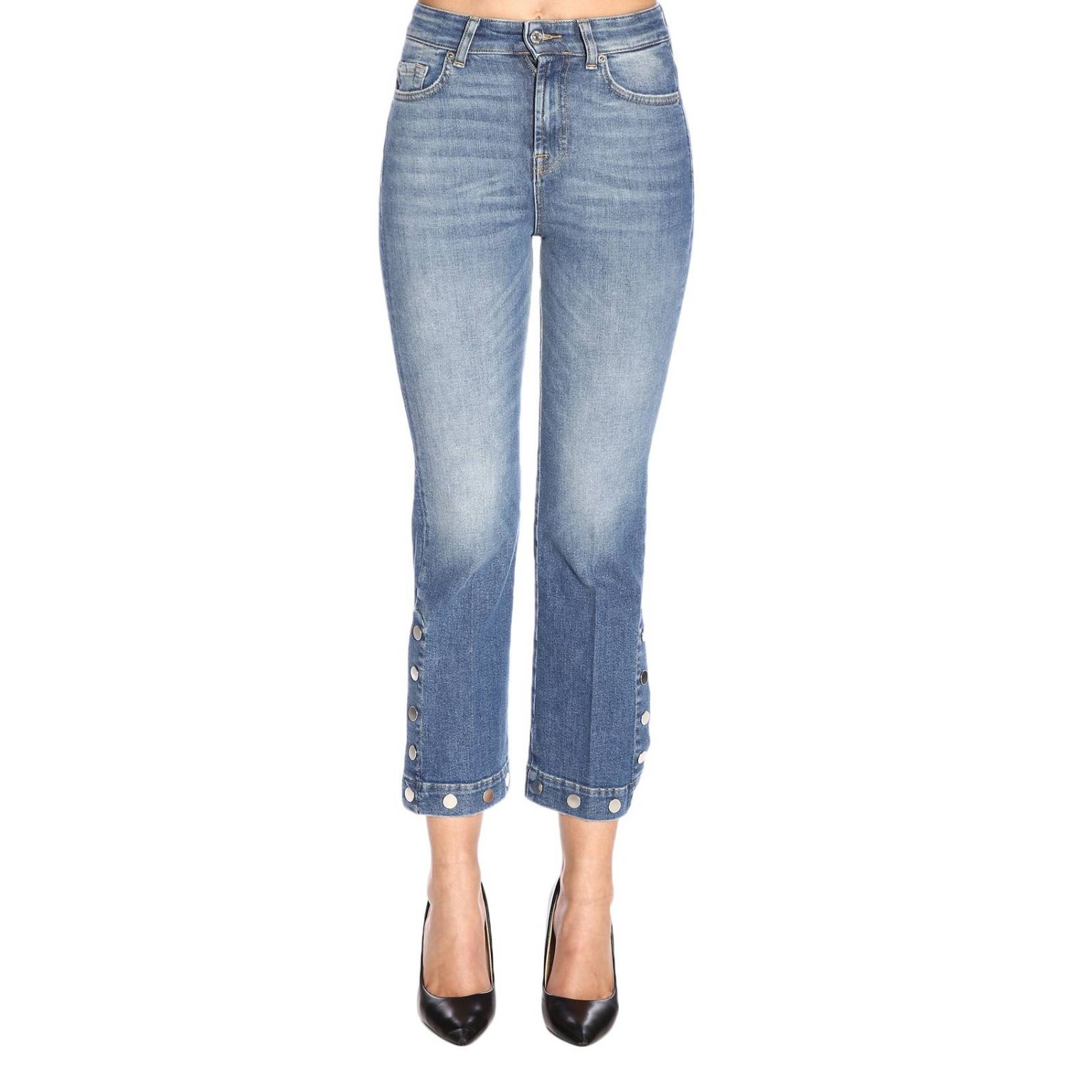 Jeans 7 For All Mankind a 5 tasche stretch used a trombetta blue 1