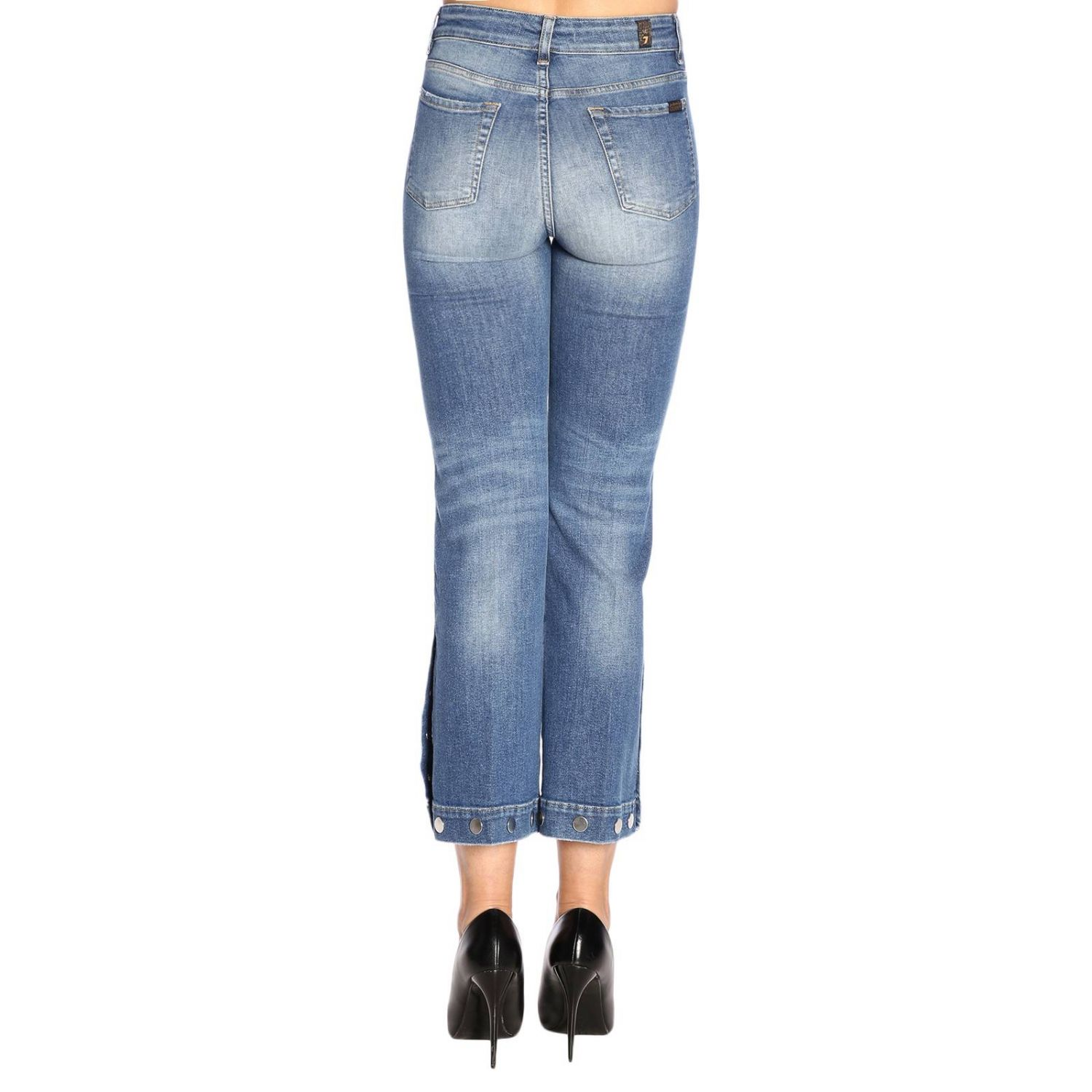 Jeans 7 For All Mankind a 5 tasche stretch used a trombetta blue 3