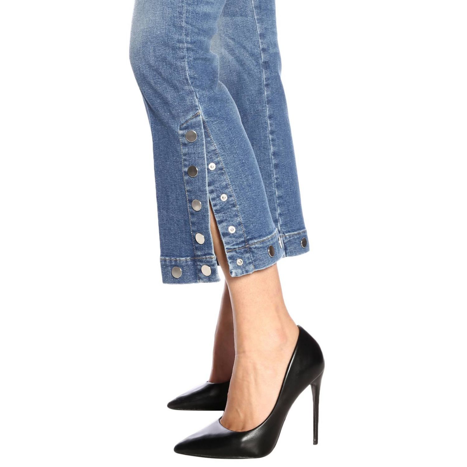 Jeans 7 For All Mankind a 5 tasche stretch used a trombetta blue 4